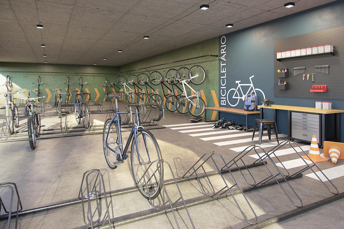 Verdes e Lagos - Bicicletario