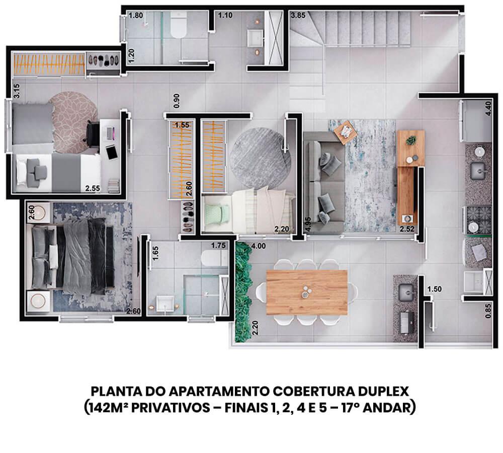 planta-londres-duplex-142m-legenda
