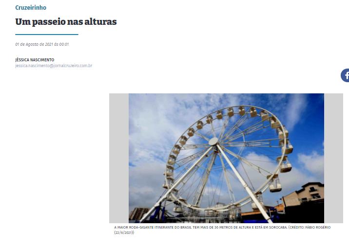 Ação social traz a Sorocaba roda gigante de 36 metros